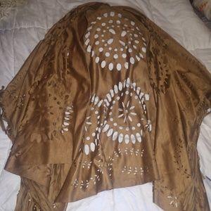 Jackets & Blazers - Suede Kimono